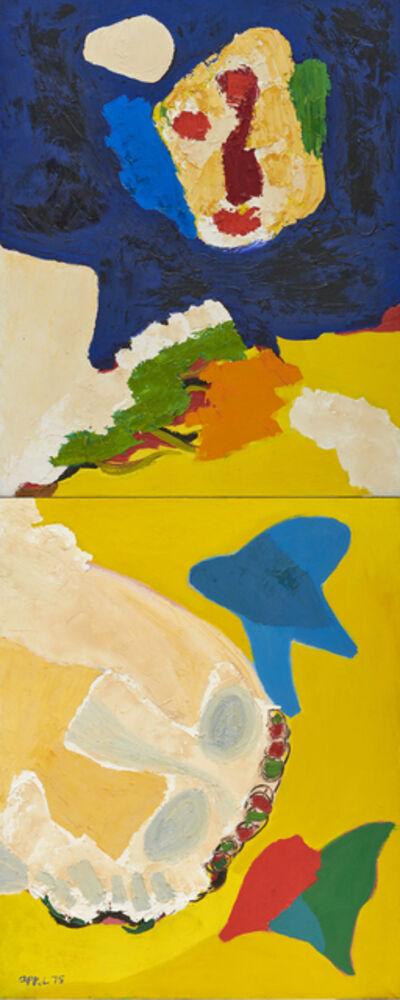Karel Appel, 'Head Flying over the Desert', 1975