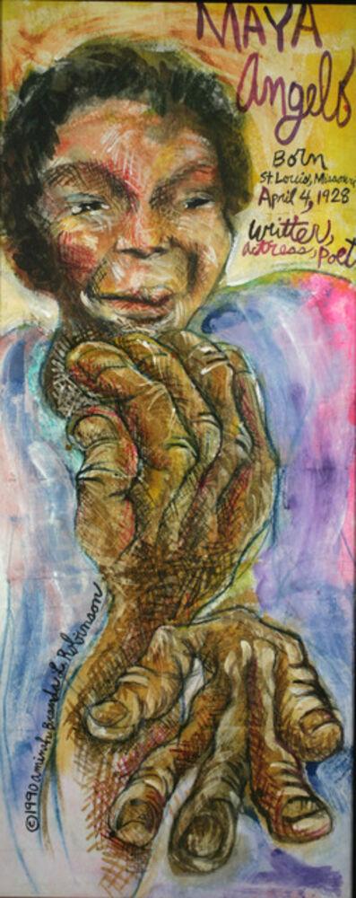 Aminah Brenda Lynn Robinson, 'Maya Angelou/Poet - A Clutch of Blossom Series', 1990
