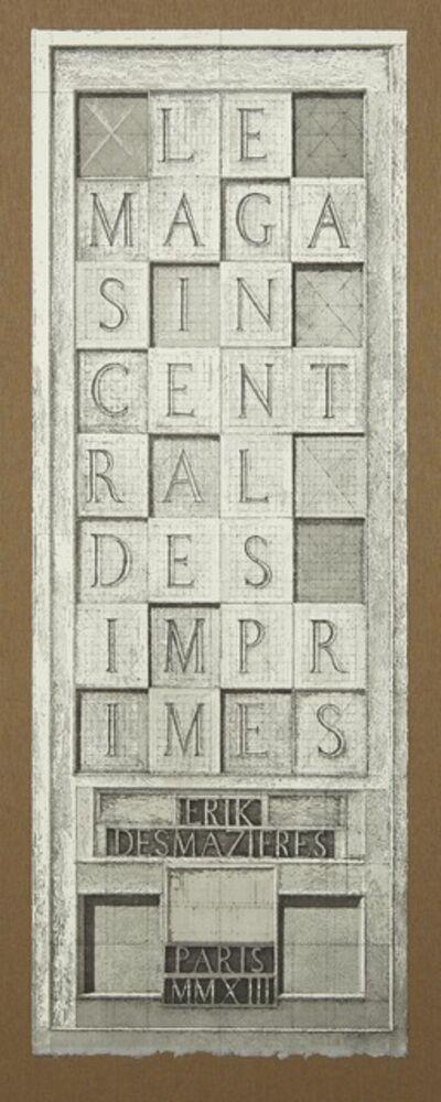 Erik Desmazières, 'Etiquette, from Le Magasin central des imprimés', 2013