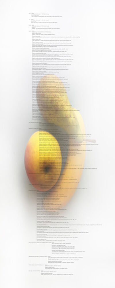 Anne de Vries, 'Image Transfer 'Banana, Apple and Pear Image Transfer'', 2012