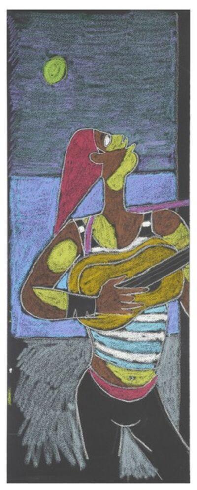 Jean Cocteau, 'Joueur de Guitare. Serenade au Clair de Lune.', 1961