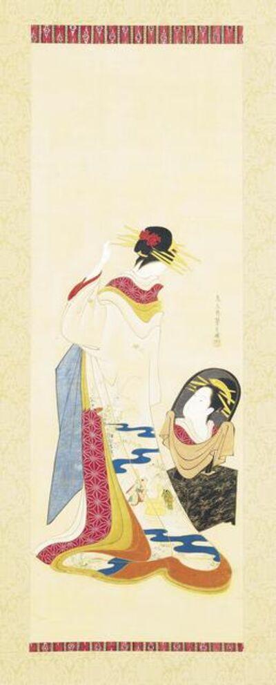 Hosoda Eishi, 'A Beauty Gazing into A Mirror', 1756-1829