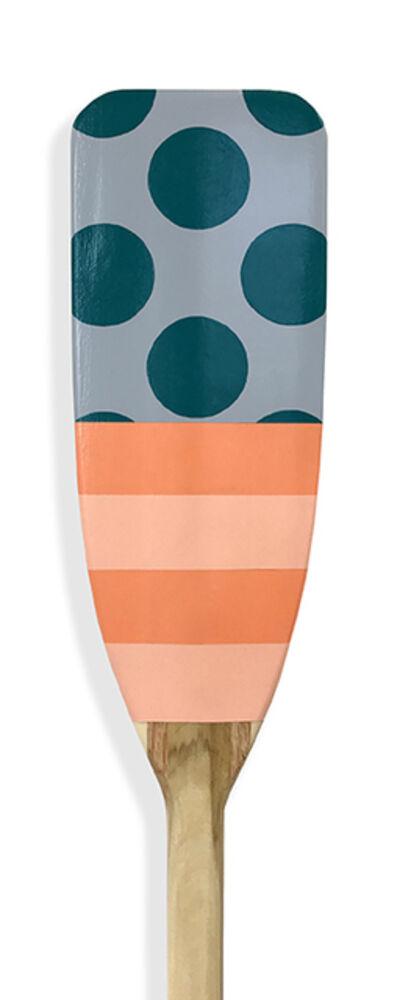 Kevin Hebb, 'Grey-Teal-Dot-Salmon-Stripe', 2019