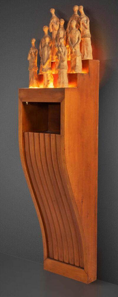 Osvaldo Borsani, 'Wall mounted radio cabinet', 1947