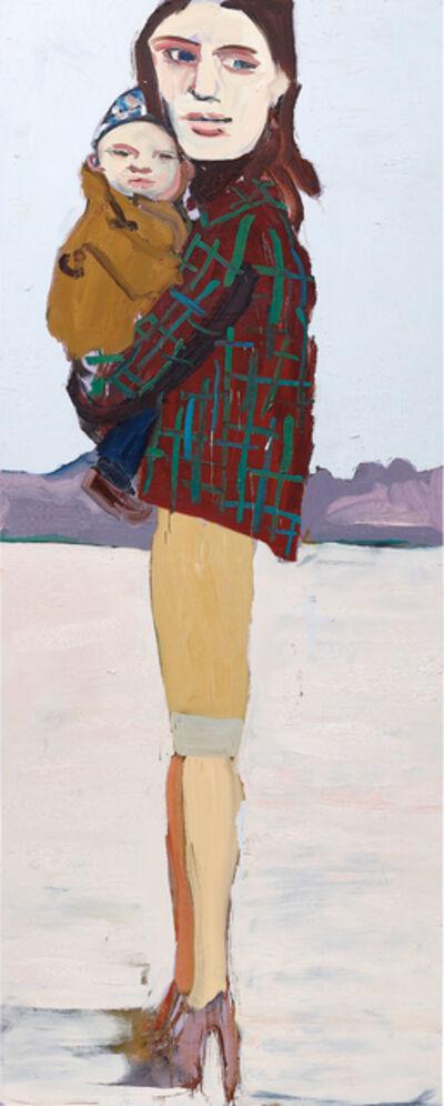 Chantal Joffe, 'Check Jacket and Baby', 2004