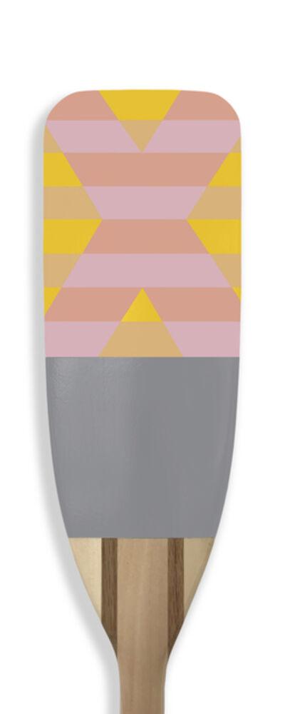 Kevin Hebb, 'Pink_Yellow_Grey_X', 2019