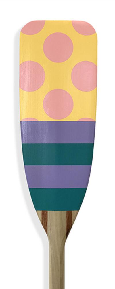 Kevin Hebb, 'Yellow-Pink-Dot-Lilac-Teal-Stripe', 2019