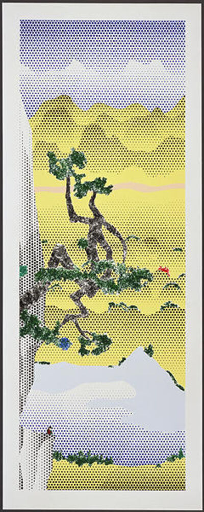 Roy Lichtenstein, 'Landscape with Poet ', 1996