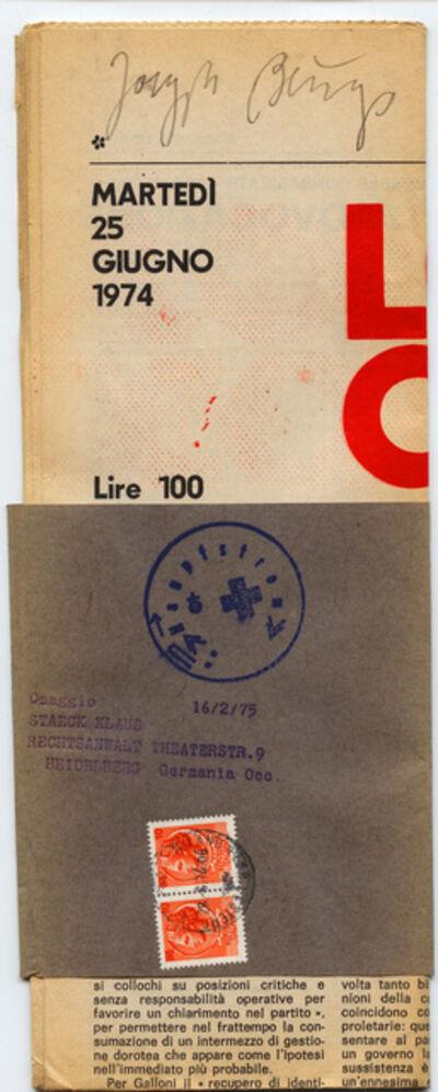 Joseph Beuys, 'Lotta Continua', 1975