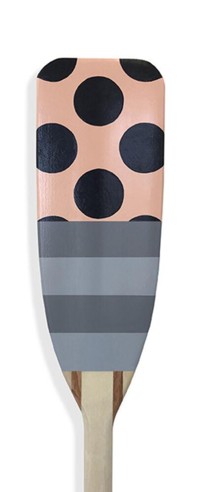 Kevin Hebb, 'Pink-Navy-Dot-Grey-Stripe', 2019
