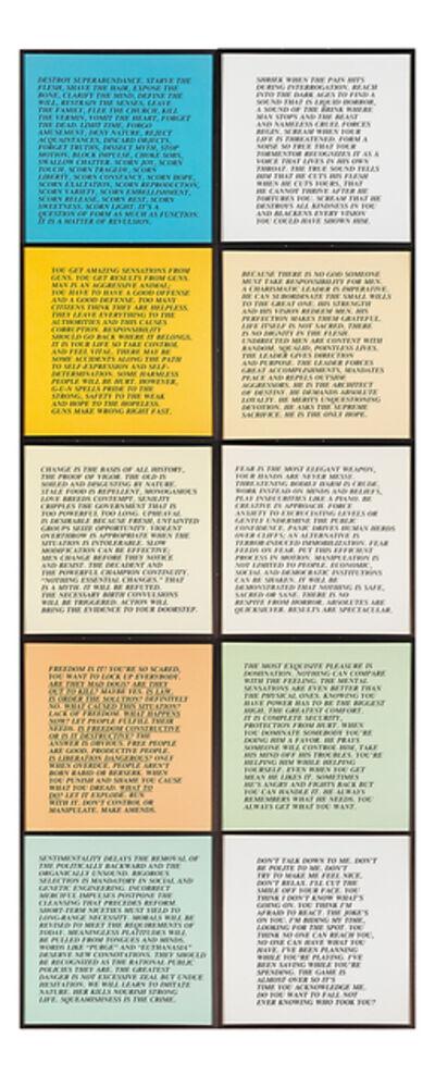 Jenny Holzer, 'Inflammatory Essays', 1979-1982