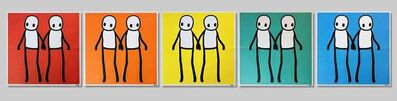 Stik, 'Holding Hands (Red, Orange, Yellow, Blue & Teal), Full Set (Signed)', 2020