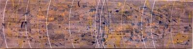 """Pat Adams, 'Geometric Painting """"Rather Than"""" Abstract Mixed Media on Wood', 2000-2009"""