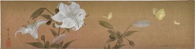 Kakunen Tsuruoka, 'Lillies and Butterflies', ca. 1920s