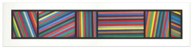 Sol LeWitt, 'Bands of color in Different Directions (Diptych)', 1996