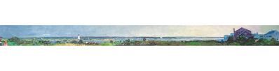 "Larry Horowitz, '""Edgartown Panorama"" panoramic oil painting of Edgartown Harbor on Martha's Vineyard', 2018"