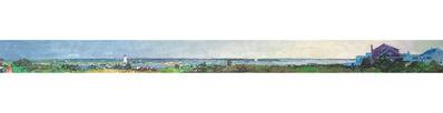 """Larry Horowitz, '""""Edgartown Panorama"""" panoramic oil painting of Edgartown Harbor on Martha's Vineyard', 2018"""