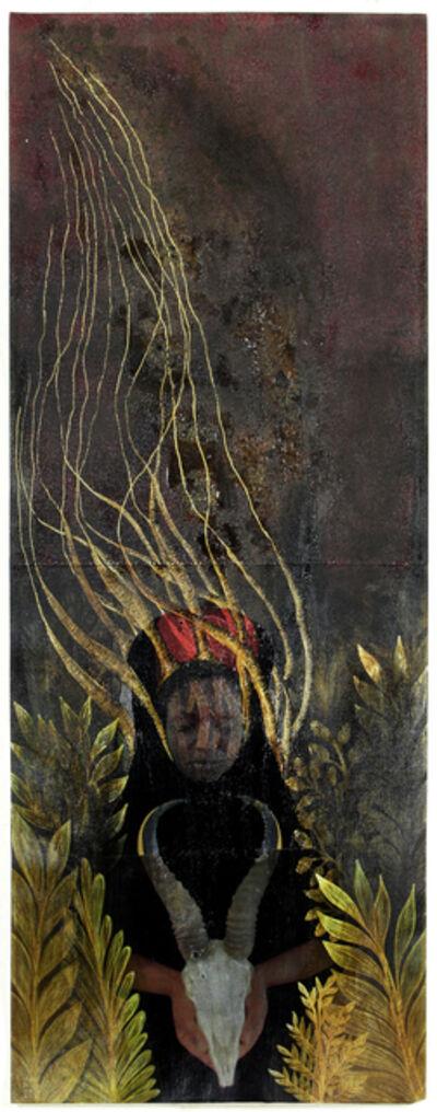Tuli Mekondjo, 'Omukongo nokandiba/ The hunter and the hare', 2019