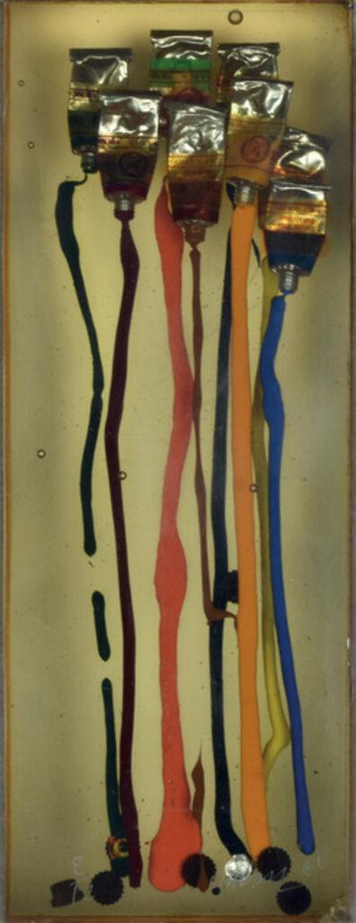 Arman, 'INCLUSION DE TUBES DE GOUACHES', 1966