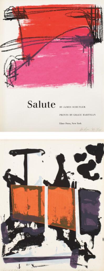Grace Hartigan, 'Salute: two plates', 1960