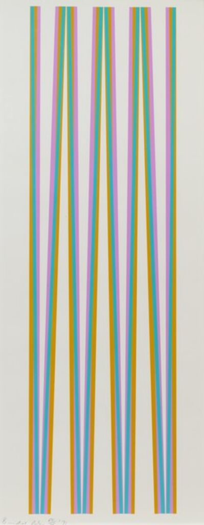 Bridget Riley, 'Elongated Triangles 4', 1971