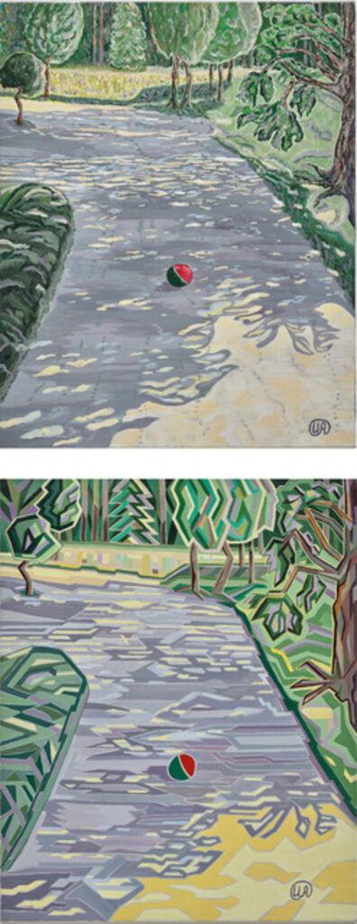 Iryna Akimova, 'Two works: (i) A shadowy alley in the park 1; (ii) A shadowy alley in the park 2', Each 2018
