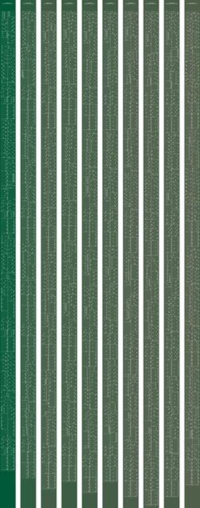 Annesas Appel, 'metamorphosis music notation numeral 7', 2015