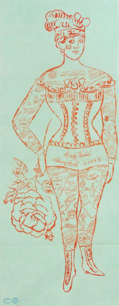 Andy Warhol, 'Tattooed Woman Holding Rose', 1995