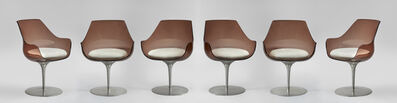 "Erwine & Estelle Laverne, 'A set of 6 "" Champagne"" chairs', ca. 1960"