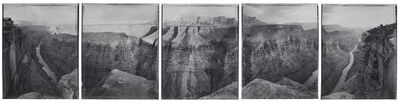 Mark Klett, 'Around Toroweap point, just before and after sundown, beginning and ending with views used by J.K. Hillers over one hundred years earlier, Grand Canyon, 8/17/86', 1986