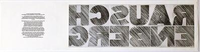 Cris Gianakos, 'RAUSCHENBERG', 1970