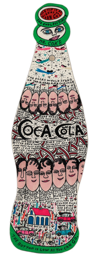 Howard Finster, 'Coca-Cola', 1989