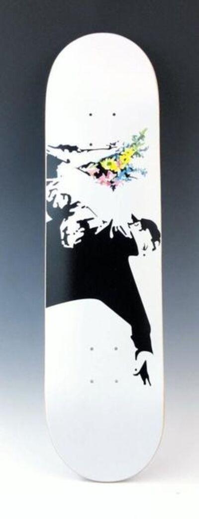Banksy, 'Flower Bomber Skate Deck', 2017