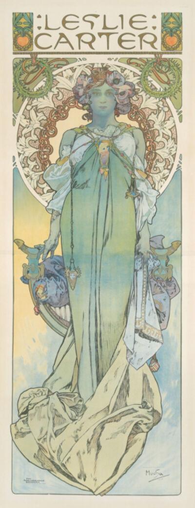 Alphonse Mucha, 'Leslie Carter', 1908