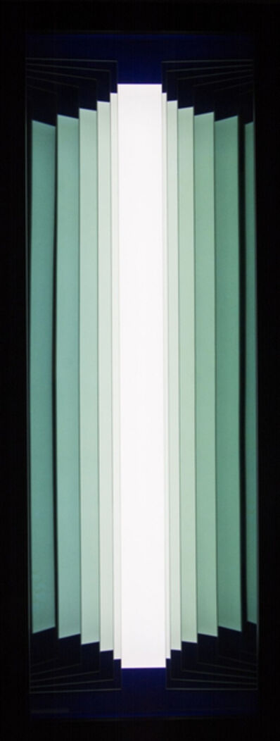 Kenneth Emig, 'Polar Night - Illuminated geometric forms in icy mint-green hue', 2015