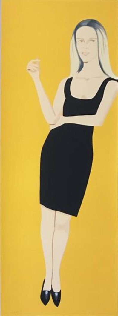 Alex Katz, 'Black Dress 6 (Yvonne)', 2015