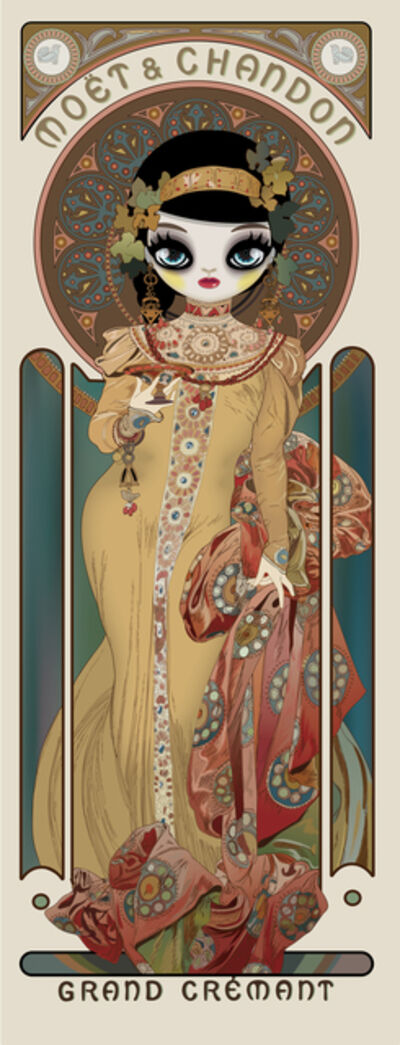 Mari Kim, 'Moet & Chandon: Grand Cremant Imperial (homage to Alphonse Mucha) ', 2018