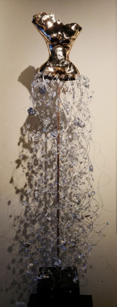 Estella Fransbergen, 'High-polished Bronze Torso with Pearls, Crystals, Quartz & Silver Roses', 2018