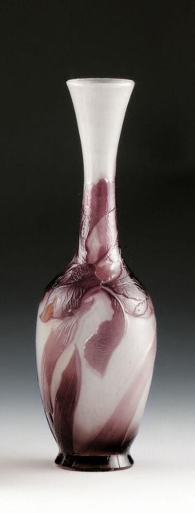 Emile Gallé, 'Vase with iris', 1900