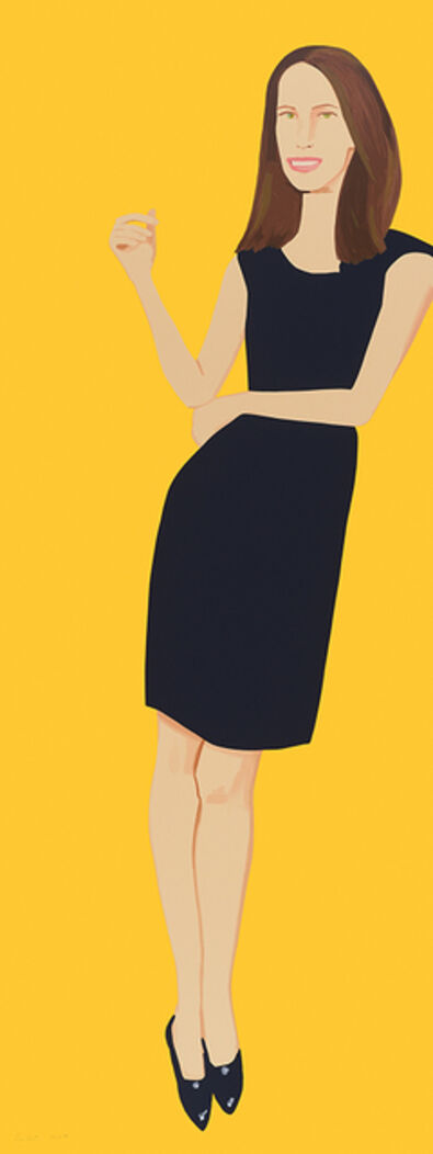 Alex Katz, 'Black Dress IX, Christy (series)', 2017