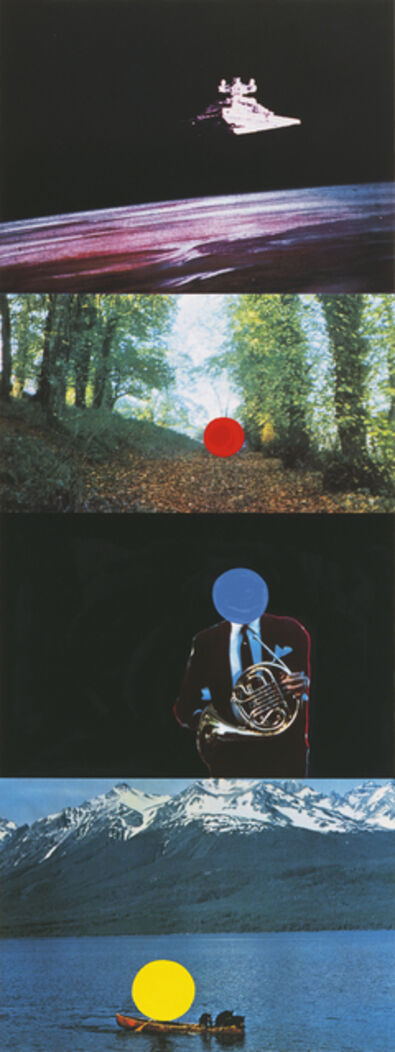 John Baldessari, 'French Horn Player (With Three Contexts-One Uncoded)', 1994