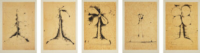 Jim Dine, 'Lithographs of the Sculpture: The Plant Becomes a Fan', 1975
