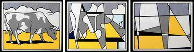 Roy Lichtenstein, 'Cow triptych (Cow Going Abstract)', 1982
