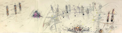 """Roberto Matta, 'It's Not A Question of Superman but of integREAL the possible """"dialectical humanism"""" humanity must be the synthesis', 1950"""