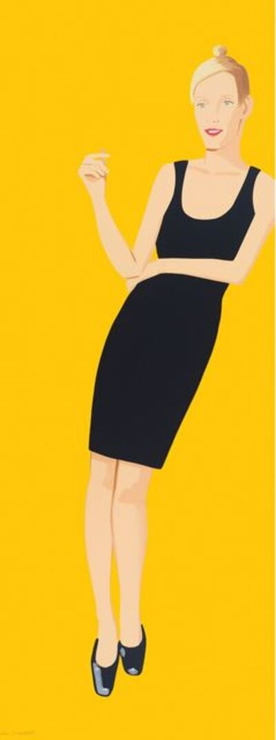 Alex Katz, 'Black dress Oona', 2015