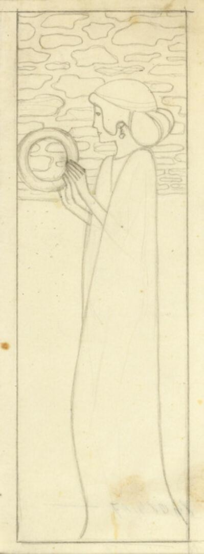 Friedrich König, 'Sketch for Fama with crown of glory ', 1900