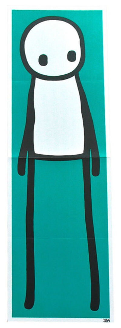 Stik, 'STANDING FIGURE (Teal Signed)', 2015