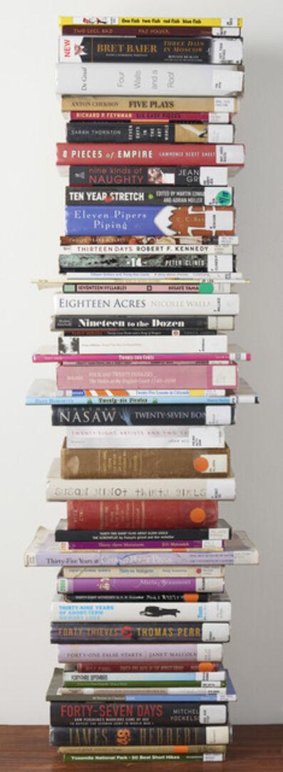 Lenka Clayton, '50 Library Books', 2014/2018