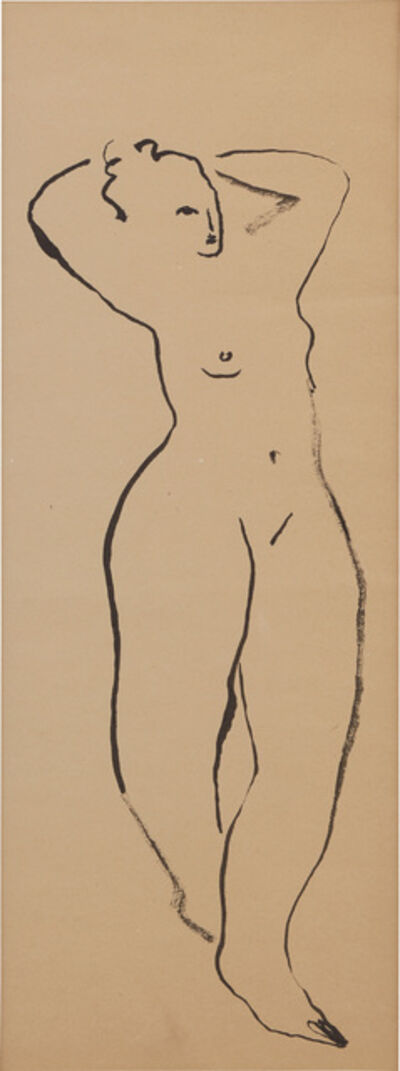 Sanyu, 'Standing Nude with Raised Arms'