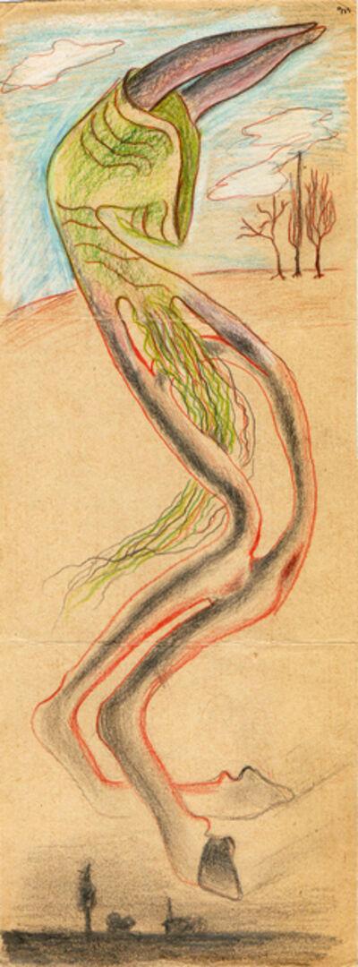 Hedda Sterne, 'Hedda Sterne, Theodore Brauner, Medi Wechsler Dinu, Cadavre exquis 228', 1930-1932